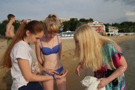 Практические занятия на пляже_